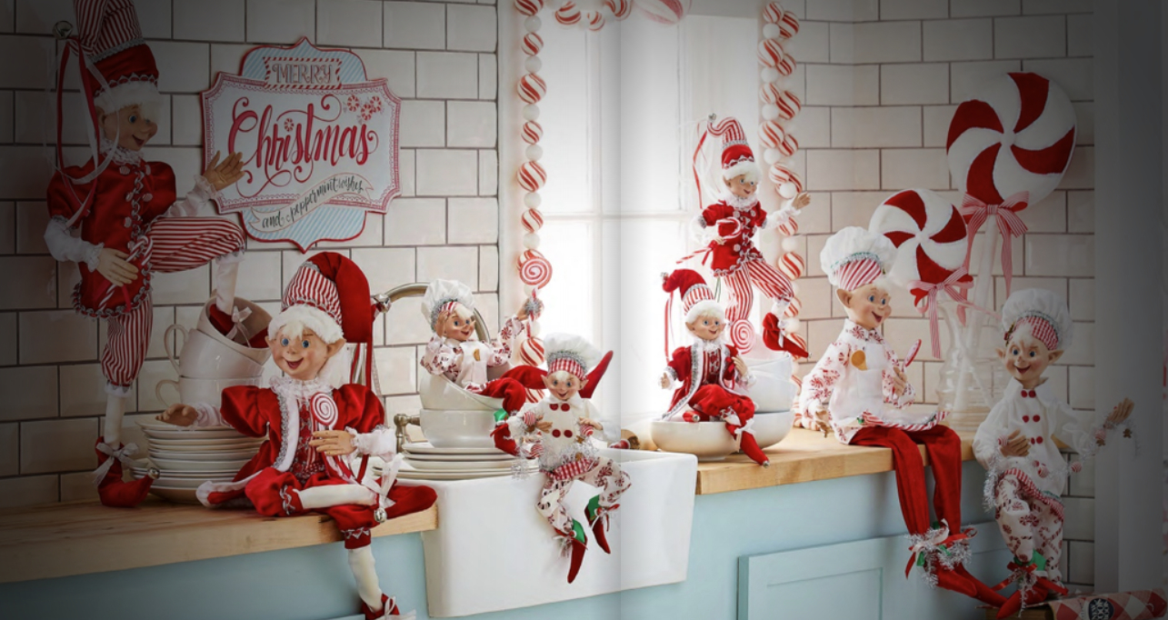 Meet Mrs. Santa Claus and elves at the Hotel Indigo in Cleveland, Ohio.
