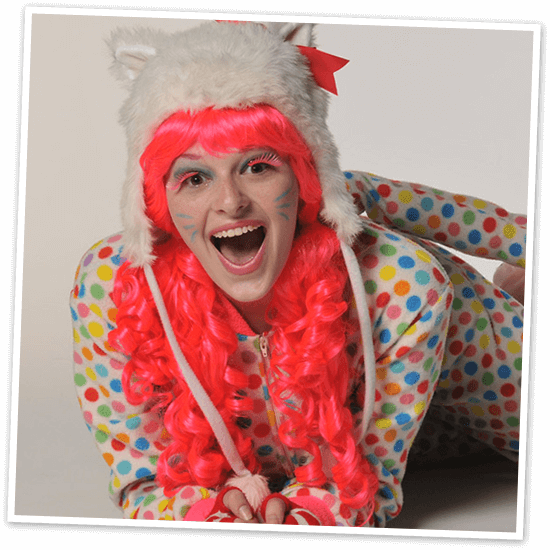 """Calendar """"Callie Cat"""" Precious is one of Santa's elves at Mr. Kringle's Inventionasium Experience in Cleveland"""