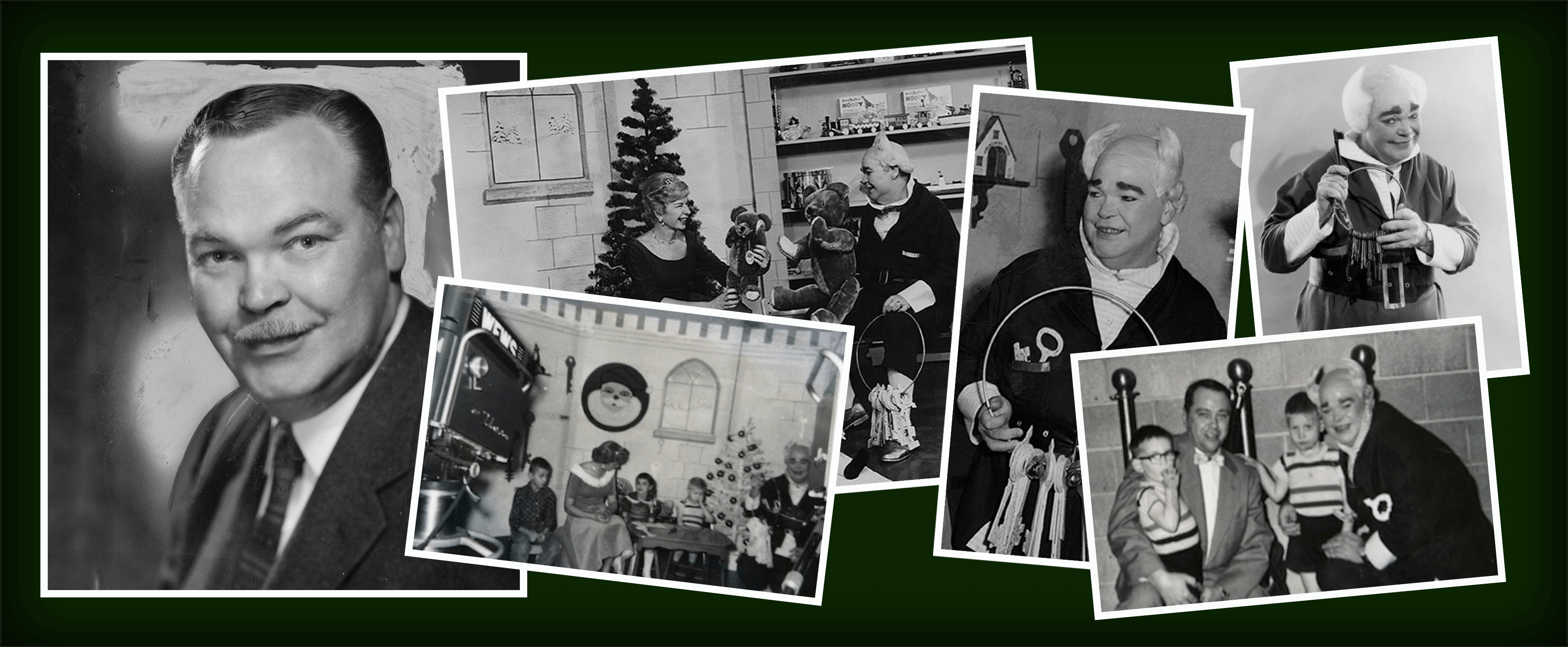 Photos of television's first Mr. Jingeling in Cleveland, Ohio.