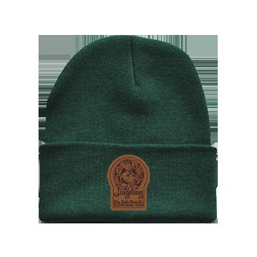 Mr. Jingeling Keyhole Knit Beanie Hat Green