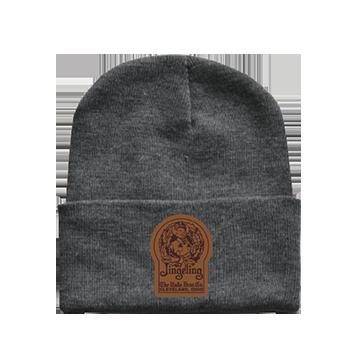 Mr. Jingeling Keyhole Knit Beanie Hat Gray