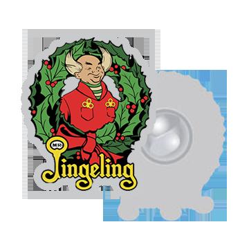 Mr. Jingeling Wreath Pin