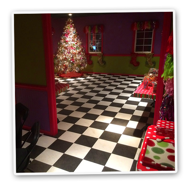 Mr. Kringle's Inventionasium Experience's Kringle-Lotta Package includes access to the Kringle Party Room
