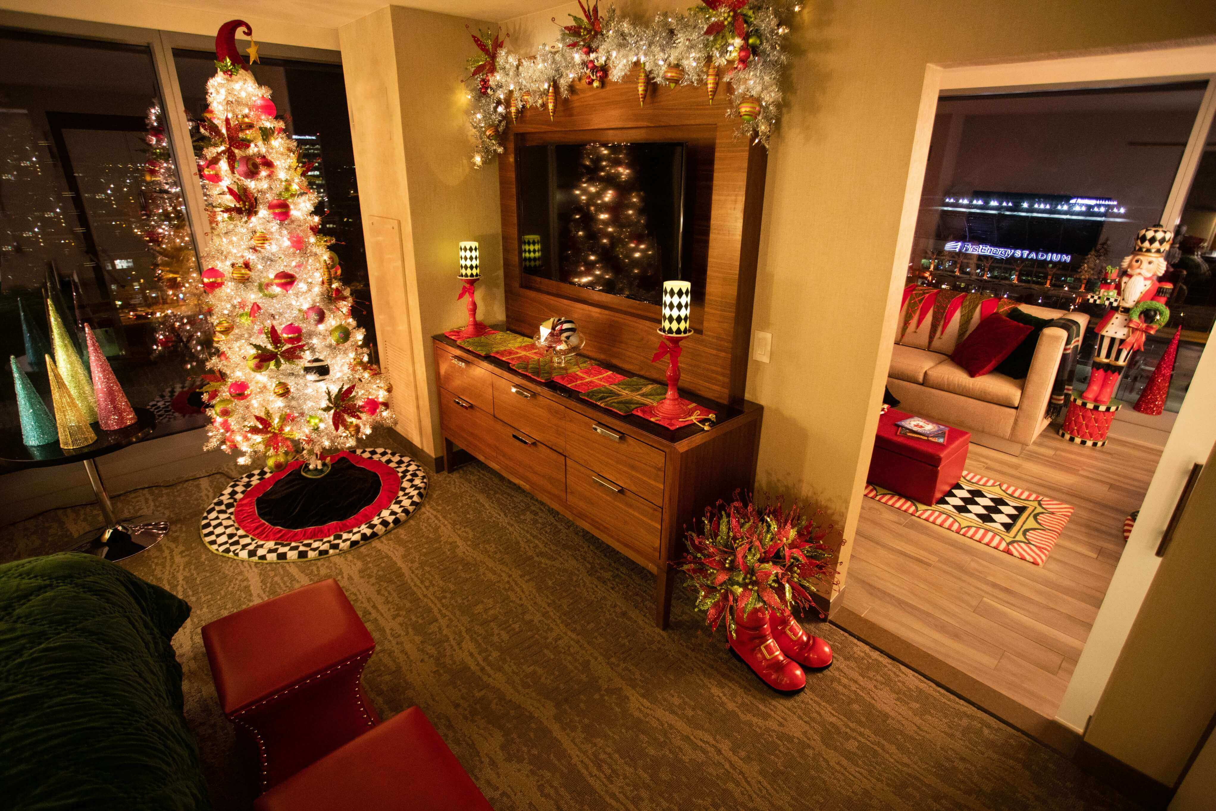 Book an overnight stay at the Mr. Kringle Suite at the Hilton Cleveland Downtown.